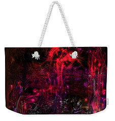 Weekender Tote Bag featuring the digital art In The Ancients Chambers by Reed Novotny