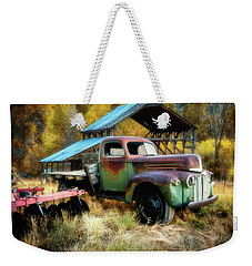 In The Autumn Of Life - 1945 Ford Flatbed Truck Weekender Tote Bag