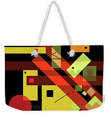 Weekender Tote Bag featuring the digital art In The Balance by Lynda Lehmann