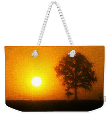 Weekender Tote Bag featuring the painting In The Beginning by Dan Sproul