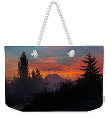 Weekender Tote Bag featuring the photograph In The Beginning by Tikvah's Hope