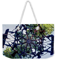 In The Center Of Seven Under Birds #2 - Tiny Planet Weekender Tote Bag by Chris Bordeleau