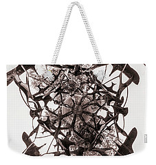 In The Center Of Seven Under Birds Bw - Tiny Planet Weekender Tote Bag