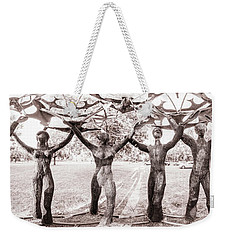 In The Center Of Seven Under Birds - Panorama Weekender Tote Bag by Chris Bordeleau