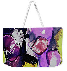 Weekender Tote Bag featuring the painting In The Crowd by Michele Myers