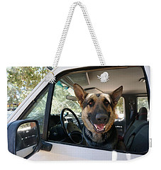 In The Driver's Seat  Weekender Tote Bag