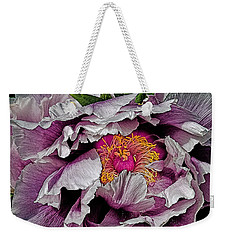 In The Eye Of The Peony Weekender Tote Bag