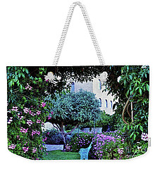 In The Garden At Mount Zion Hotel  Weekender Tote Bag