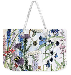 In The Garden Weekender Tote Bag by Laurie Rohner