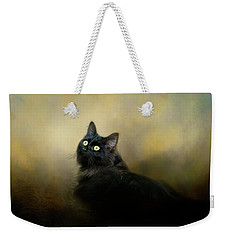 In The Garden Light Cat Art Weekender Tote Bag