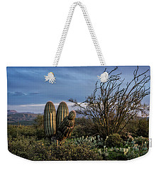 Weekender Tote Bag featuring the photograph In The Green Desert  by Saija Lehtonen