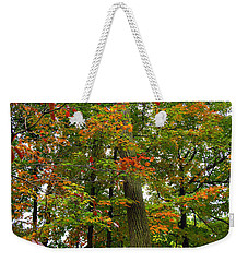 Weekender Tote Bag featuring the photograph In The Height Of Autumn by Joan  Minchak