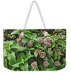 Weekender Tote Bag featuring the photograph In The Highline Garden by Joan  Minchak