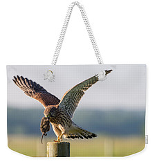 In The Kestrel's Beak Weekender Tote Bag by Torbjorn Swenelius