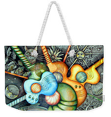Weekender Tote Bag featuring the drawing In The Key I See by Linda Shackelford