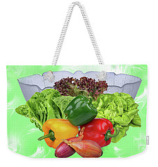 In The Kitchen-salad Weekender Tote Bag