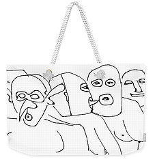 In The Leather Bar Weekender Tote Bag