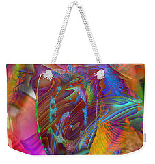 Weekender Tote Bag featuring the mixed media In The Light by Kevin Caudill
