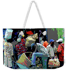 In The Market Place Weekender Tote Bag