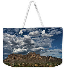 Weekender Tote Bag featuring the photograph In The Midst Of The Superstitions  by Saija Lehtonen