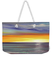 In The Moment Panoramic Sunset Weekender Tote Bag