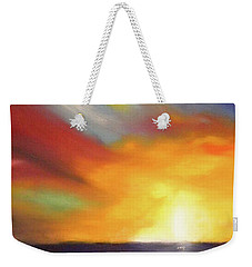 In The Moment - Vertical Sunset Weekender Tote Bag