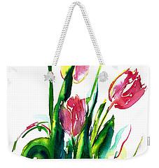 In The Pink Tulips Weekender Tote Bag