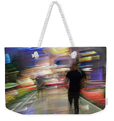 Weekender Tote Bag featuring the photograph In The Presence Of The Sun God by Alex Lapidus