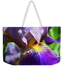In The Purple Iris Weekender Tote Bag