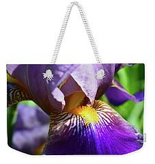 In The Purple Iris Weekender Tote Bag
