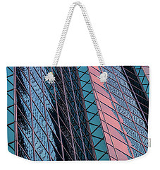 Weekender Tote Bag featuring the photograph In The Red by Jeffrey Jensen