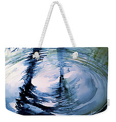 Weekender Tote Bag featuring the painting In The Ripple by Allison Ashton