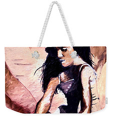 Weekender Tote Bag featuring the digital art In The Sand by Pennie  McCracken