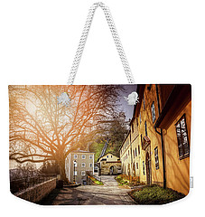 Weekender Tote Bag featuring the photograph In The Shadow Of Salzburg Castle  by Carol Japp