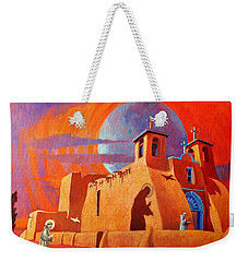 In The Shadow Of St. Francis Weekender Tote Bag