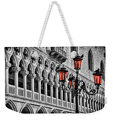 Weekender Tote Bag featuring the photograph In The Shadow Of The Doges Palace Venice by Carol Japp