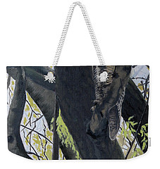 In The Shadow-ojibway Great Horn Owl Weekender Tote Bag