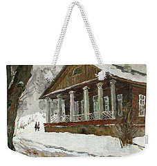 In The Silence Of The Snow Covered Park Weekender Tote Bag