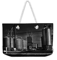 In The Still- Black And White Weekender Tote Bag