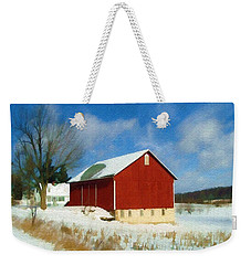 Weekender Tote Bag featuring the photograph In The Throes Of Winter by Sandy MacGowan
