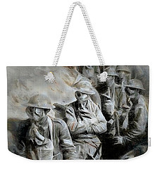 Weekender Tote Bag featuring the digital art In The Trenches by Pennie  McCracken