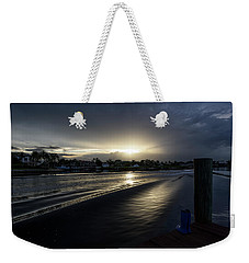 Weekender Tote Bag featuring the photograph In The Wake Zone by Laura Fasulo