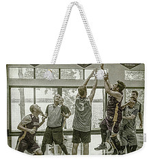 Weekender Tote Bag featuring the photograph In Your Face by Ronald Santini