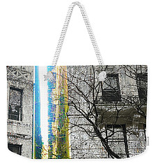 Weekender Tote Bag featuring the mixed media Inbetween  by Tony Rubino