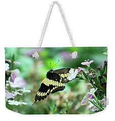 Incoming Butterfly Weekender Tote Bag