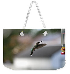 Weekender Tote Bag featuring the photograph Incoming by Living Color Photography Lorraine Lynch