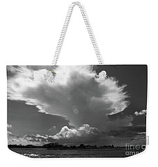 Incoming Storm Over Barnegat Bay Bw Weekender Tote Bag