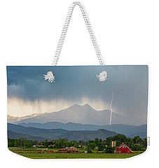 Weekender Tote Bag featuring the photograph Incoming Storm Panorama View by James BO Insogna