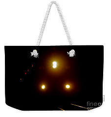 Weekender Tote Bag featuring the photograph Incoming Train by Mariola Bitner
