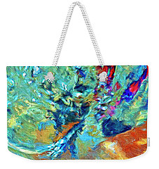 Weekender Tote Bag featuring the painting Incursion by Dominic Piperata